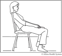 diagram showing how to get out of a chair after surgery