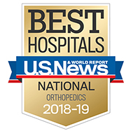 US News and World Report ortho badge 2018-19