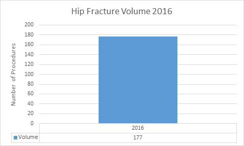 Hip fracture volumes graph