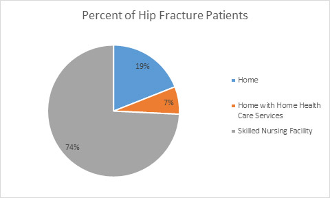 Hip fracture discharge graph