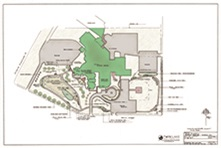 Buffalo Hospital site plan for Natures Healing Spaces