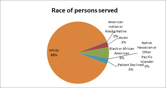 Drivers assessment race of persons served chart