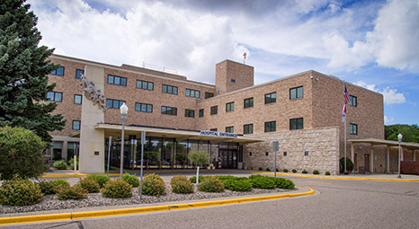 New Ulm Medical Center exterior entrance