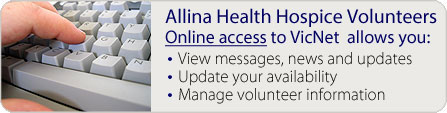 VicNet online access for Hospice volunteers