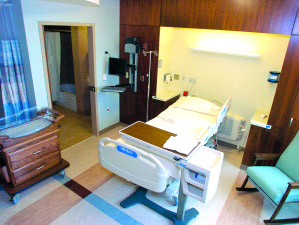Interior of a post-partum room. Photo courtesy of Owatonna People's Press