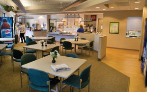 The cafeteria at River Falls Area Hospital