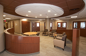 united spine care family waiting area