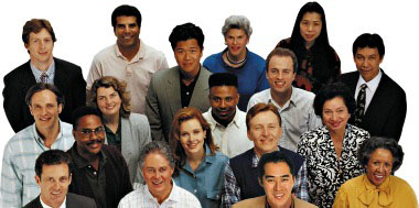 a group of diverse people represent the many kinds of people Allina Health financial assistance services can help