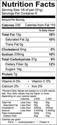 better than store bought bars nutrition label