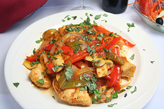 chicken with spiced up tomato sauce