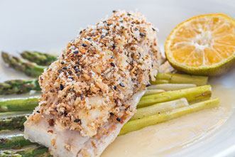 crusted cod filet
