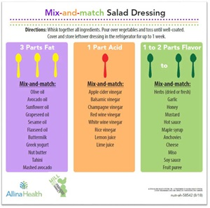 Mix-and-match Salad Dressing