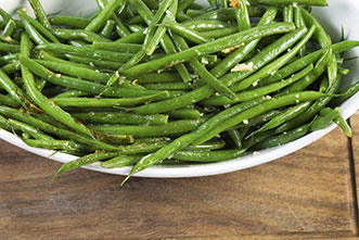 steamed seasoned green beans recipe