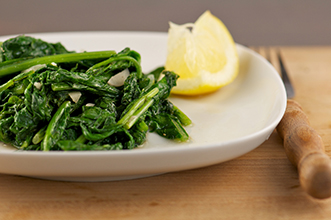 mustard greens on a plate