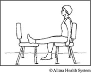 knee straightening stretch