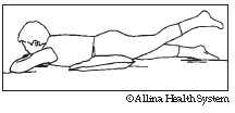 prone hip extension