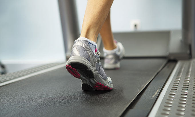 feet on treadmill, walking and other tips to improve irregular heart beat