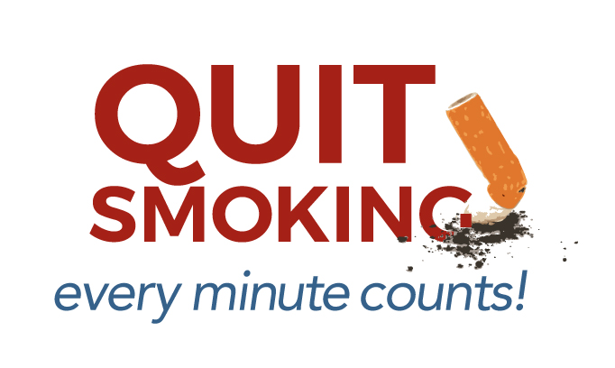 Quit smoking, every minute counts illustration