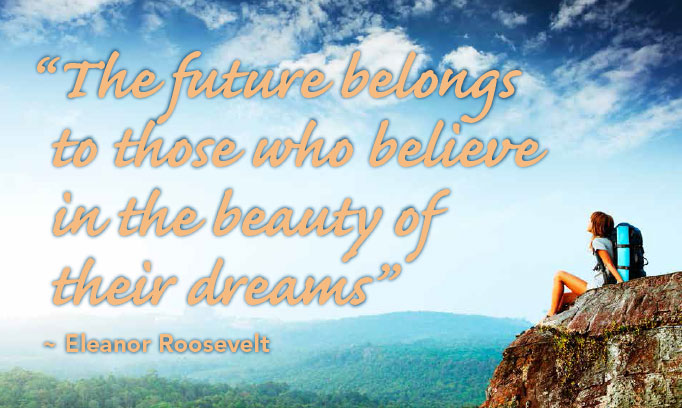 Eleanor Roosevelt quote, believe in your dreams quote