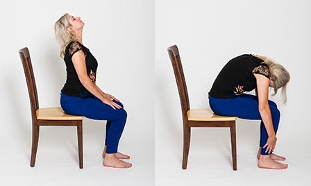 picture regarding Printable Chair Yoga Poses Pdf named 5 gains of chair yoga and 6 poses towards take began
