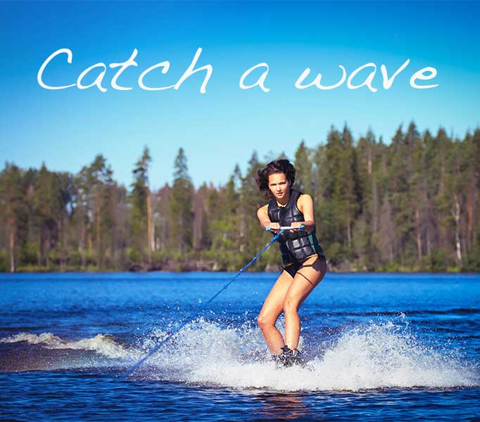 Catch a wave photo quote