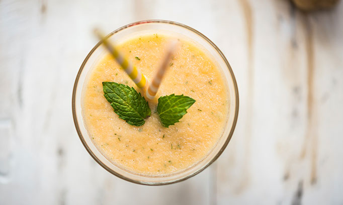 ginger melon smoothie a good breakfast option