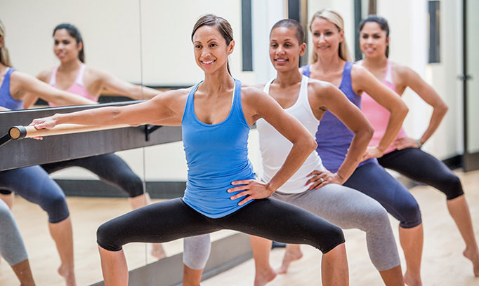 get in shape with a barre workout routine