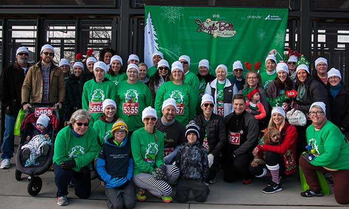 allina health's jingle bell run team