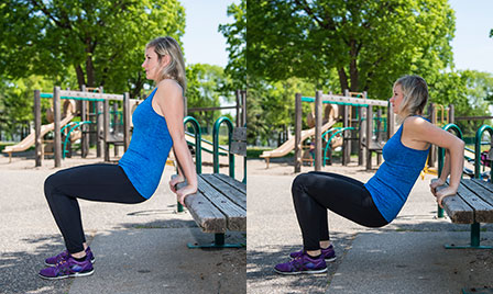 Playground Workout_Bench Dips