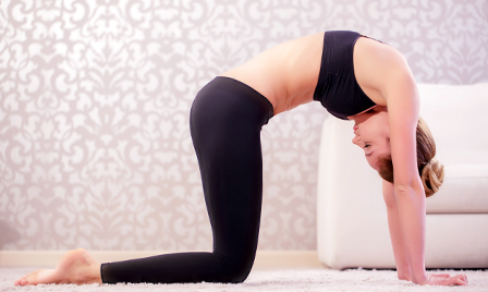 seven yoga poses to destress  move  healthy set go