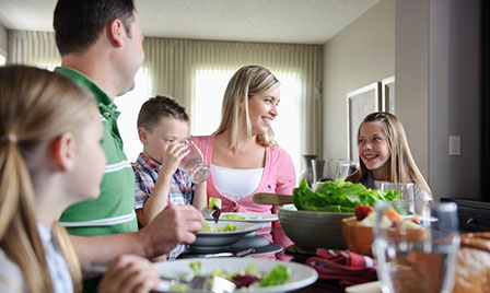 Family eating meal-listicle