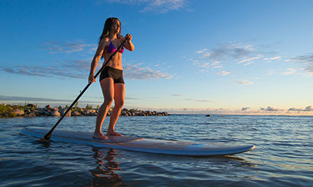 Eight workouts that don't... Paddleboarding