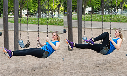 Playground Workout_Swing Knee Tuck