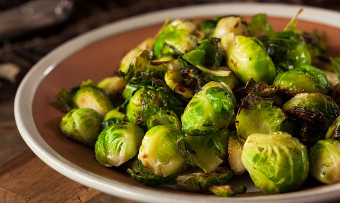 brussels sprouts recipe sauteed with brown sugar, apple cider