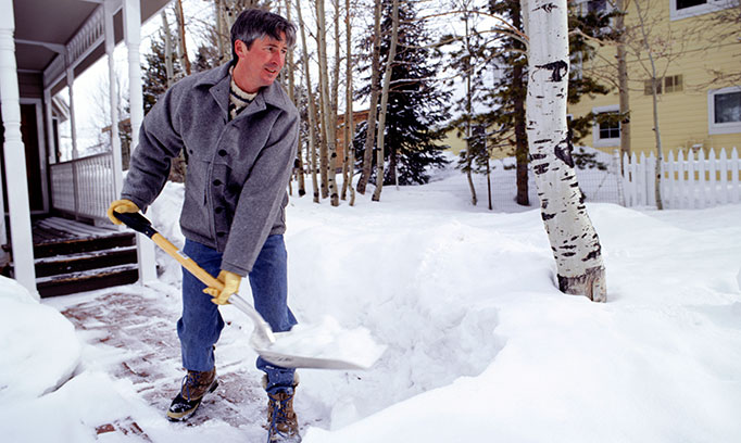 Snow shoveling can raise the risk of heart attack in some people.