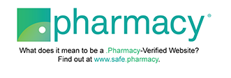Pharmacy logo with redirect link