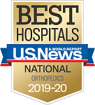 US News & World Report Best Hospitals badge orthopedics