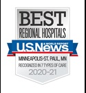 US News & World Report badge Regional MINNEAPOLISST PAUL7TOC united hospital web