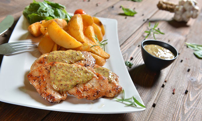 grilled chicken with mustard cream recipe