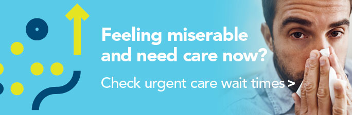 Feeling miserable and need care now? Check urent care wait times